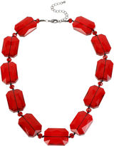 MIXIT Mixit Red Chunky Bead Collar Necklace