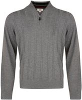 House of Fraser Men's Cutter and Buck Cable zip neck sweater