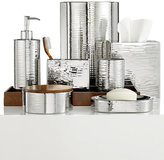 Hotel Collection Polished Hammered Metal Toothbrush Holder