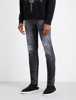 Marcelo Burlon County of Milan Abrasion slim-fit tapered jeans