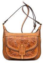 Patricia Nash Burnished Tooled Camila Leather Square Crossbody Bag