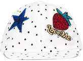 Dolce & Gabbana badges cap - kids - Cotton/Spandex/Elastane - 48 cm