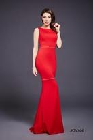 Jovani Versatile Bateau Jersey Sheath Gown 36599