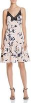 Aqua Floral Lace Trim Dress - 100% Exclusive