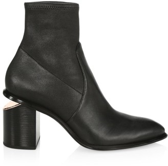 Alexander Wang Anna Rose Gold & Stretch-Leather Sock Boots
