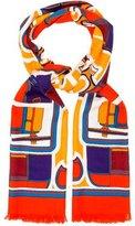 Hermes Les Coupes Cashmere Silk Stole