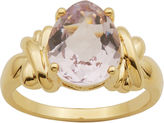 JCPenney FINE JEWELRY Pear-Shaped Color-Enhanced Pink Quartz Ring