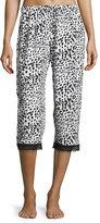 Cosabella Majestic Print Crop Lounge Pants, Leopard