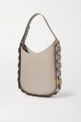 Chloé Darryl Braided Textured-leather Shoulder Bag