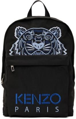Kenzo Black Kampus Tiger Backpack