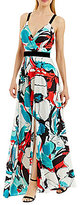 Nicole Miller New York Floral Beaded-Waist Gown