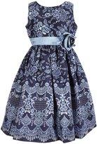 Jayne Copeland Big Girls 7-12 Floral Shantung Dress