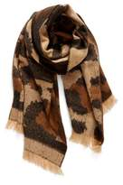 BP Women's Mixed Leopard Pattern Scarf