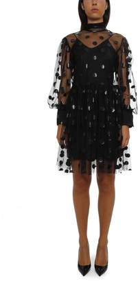 MSGM Polka Dot Tulle Slip Dress