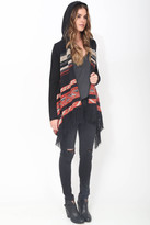 Goddis Phoebe Hooded Fringe Sweater in Montana