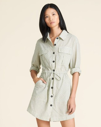 Veronica Beard Alyse Plaid Shirtdress