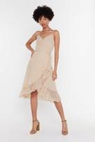 Nasty Gal Womens Plus One Me Polka Dot Wrap Dress - white - L