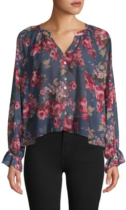 Supply & Demand Moody Floral-Print Top