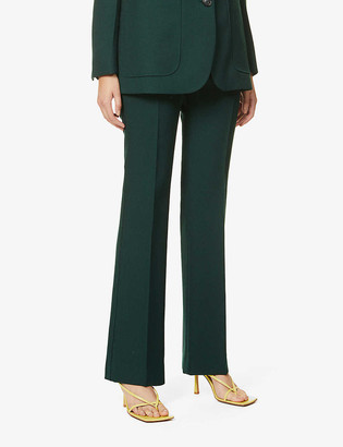 Victoria Beckham High-rise flared wool trousers