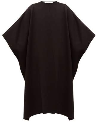 Valentino Oversized Double-faced Wool-blend Cape - Womens - Black