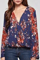 Love Stitch Lovestitch Floral Printed Top