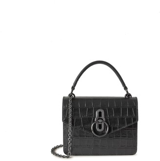 Mulberry Small Amberley Crossbody Black Soft Printed Croc
