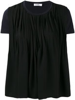 Jil Sander draped T-shirt - women - Cotton/Polyester - S