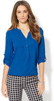 New York & Co. Soho Soft Shirt - Bubble-Hem Blouse