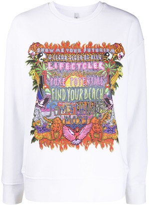 Neil Barrett Oversized Printed Sweatshirt