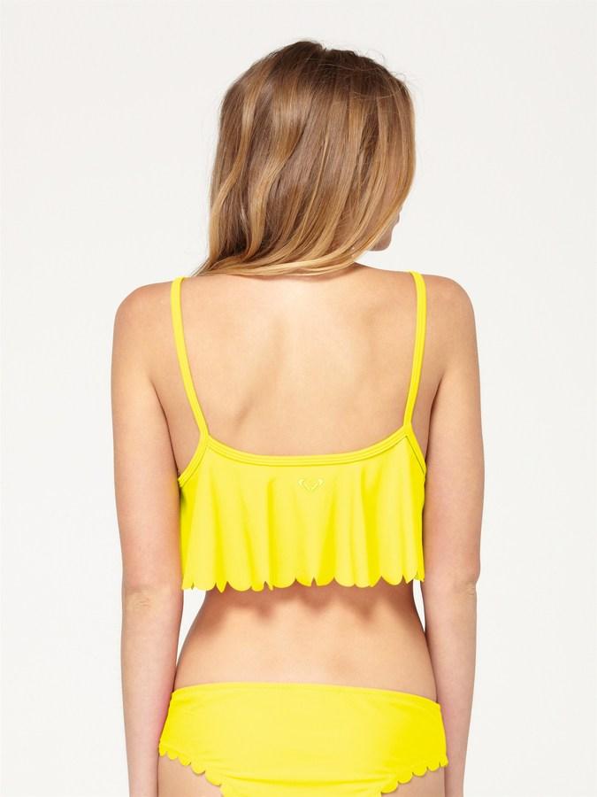Roxy Sun Dancer Cropped Scalloped Tankini Top