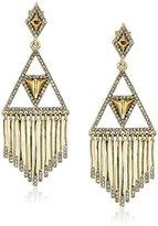 House Of Harlow Golden Hour Fringe Drop Earrings