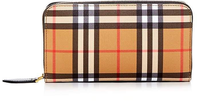 Burberry Vintage Check Elmore Zip Around Wallet