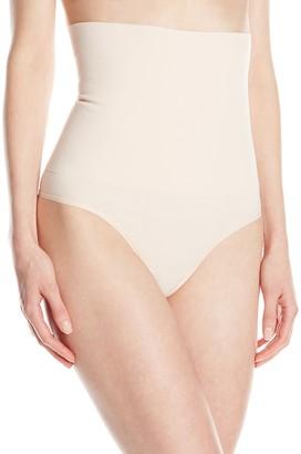 Yummie Women's Danielle High Waist Shape Thong - beige - L-x-L