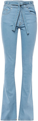 Victoria Victoria Beckham Belted High-rise Flared Jeans
