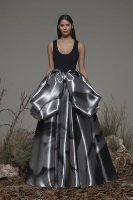 Isabel Sanchis Bonvicino Scoop Neck A-Line Gown