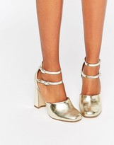 Double Ankle Strap Heels - ShopStyle