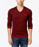 HUGO BOSS Orange Men's Kerpen Stripe V-Neck Sweater