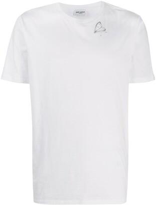 Saint Laurent illustrated motif-print T-shirt