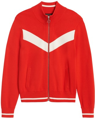 Banana Republic Petite Chevron Sweater Track Jacket
