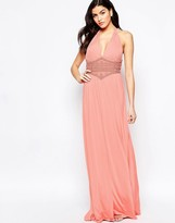 Forever Unique Caris Maxi dress with Beaded Waistband