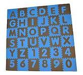 Tadpoles Tadpole Mat 36 Piece - ABC (Blue/Brown)