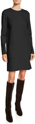 Loro Piana 2-Pocket Cashmere Shift Dress