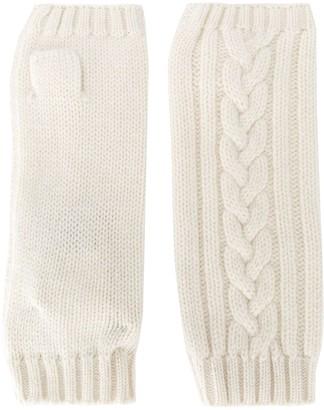 Pringle Fingerless Cable-Knit Gloves