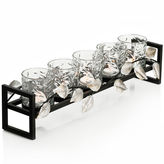 Asstd National Brand 5-Light Metal Leaf Linear Candle Holder