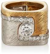 Mahnaz Collection Vintage Women's Diamond-Embellished Square Band