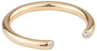 VANRYCKE Yellow Gold and Diamond Maasai Ring Size 52