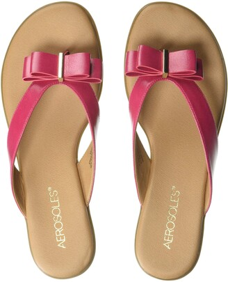 Aerosoles Women's Mirachle Sandal - Casual Thong Sandal with Memory Foam Footbed (9M - Pink)