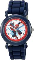 Marvel Boy's 'Spider-Man' Quartz Plastic and Silicone Casual Watch, Color: (Model: WMA000025)