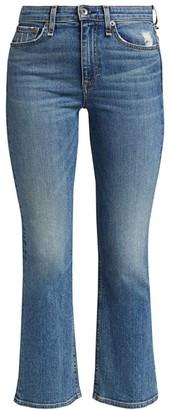 Rag & Bone Nina High-Rise Ankle Flared Jeans