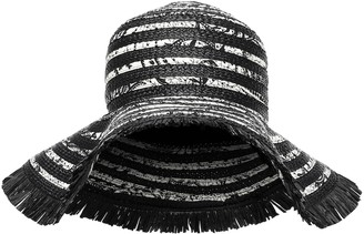 Etro Silk-trimmed straw hat
